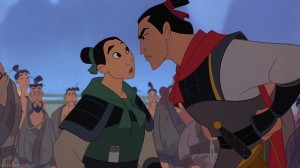 Unbeknownst to army officials, Mulan is really a girl.