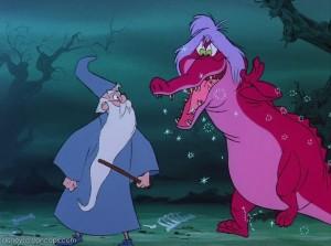 Merlin turns people into animals.
