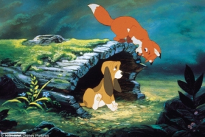 The Fox and the Hound--Copyright Disney.