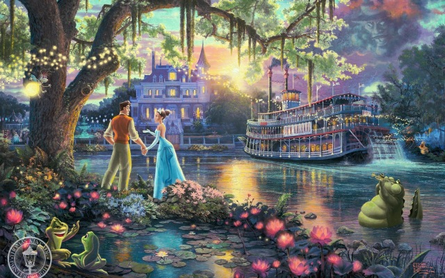 Thomas Kinkade's The Princess and the Frog