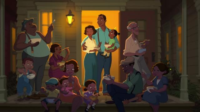Tiana's family makes the story grand.
