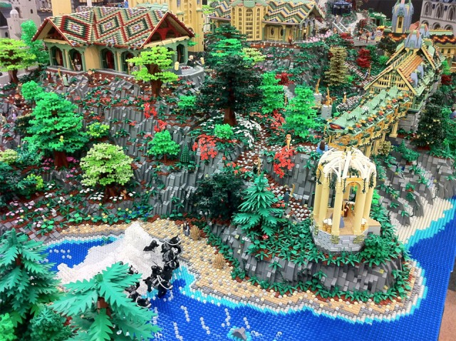 Lego Rivendell. Awesome.