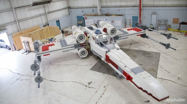 And so is this full-size Star Wars X-Wing