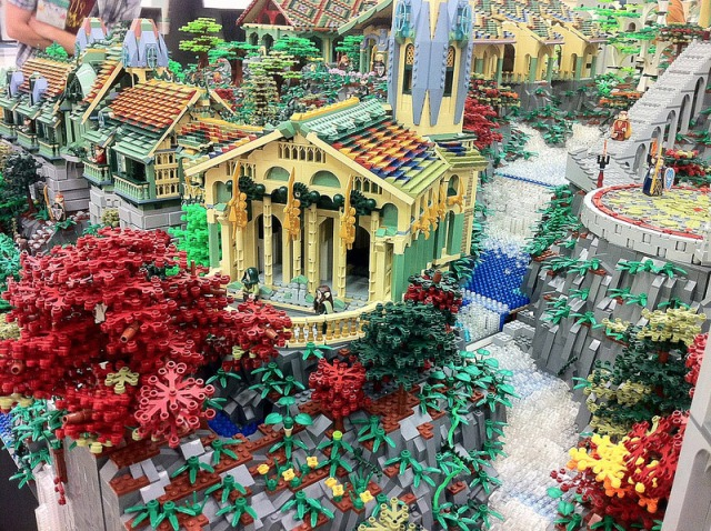 But seriously, this custom Lego Rivendell is incredible.