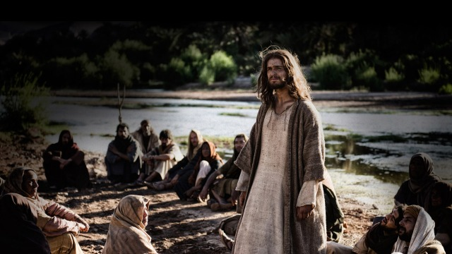 Son of God has moments that aren't brown and sandy.