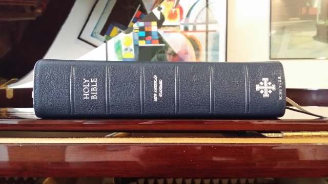 One of my new favorites, the Quentel NASB. Nice large print, thick paper, and above all, a great translation.