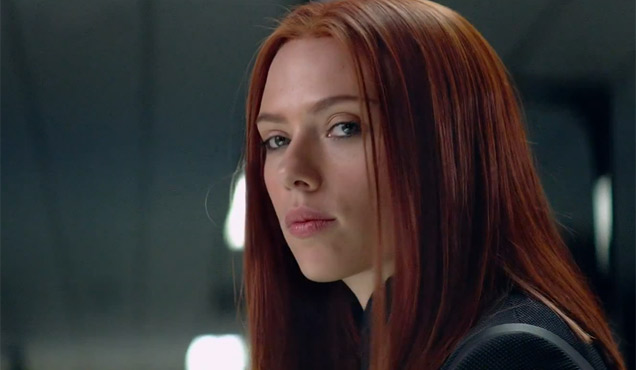 Scarlett has red in her ledger, her hair and her name.