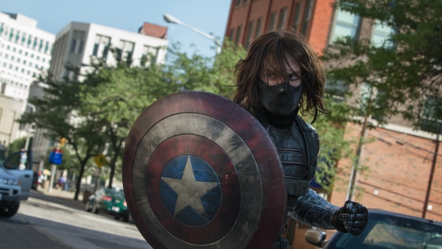 Oh no! The Winter Soldier has the Captain's shield!!