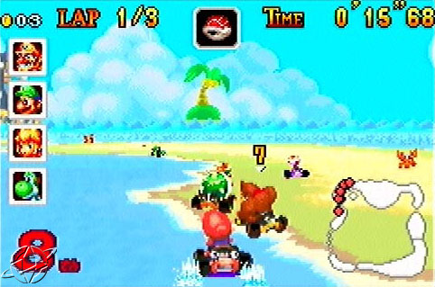 Mario dominating Koopa Beach.