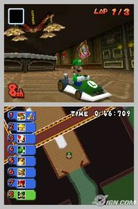 Luigi cruising through the mansion.