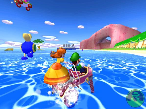 Luigi and Daisy on a drive through Peach Beach
