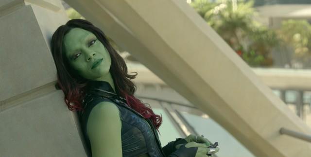 Zoe Saldana is green.
