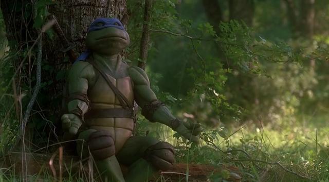 Leonardo getting his meditation on.