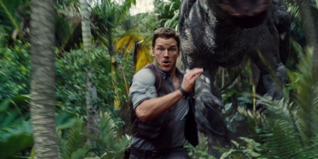Chris can totally outrun that Indominus Rex like it's a boulder in an ancient South American temple.