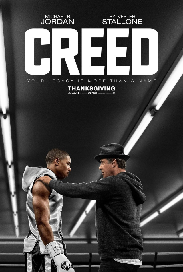Creed is a movie starring Michael B. Jordan and Sylvester Stallone.